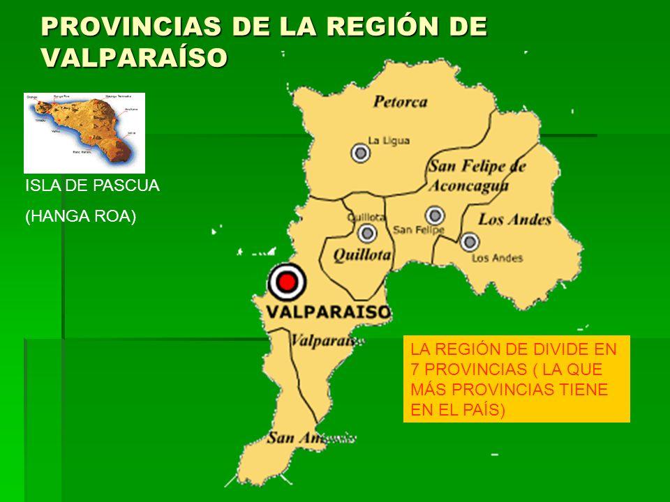 PROVINCIAS DE LA REGIÓN DE VALPARAÍSO