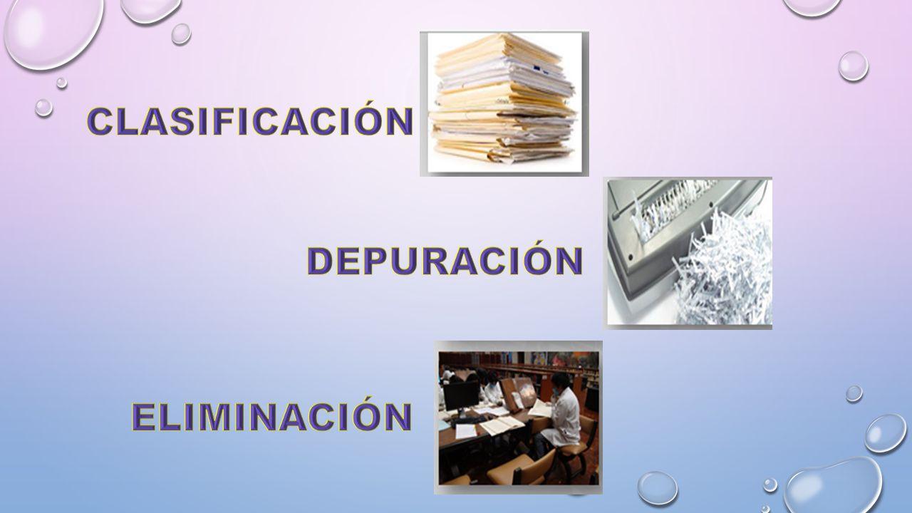 CLASIFICACIÓN DEPURACIÓN ELIMINACIÓN