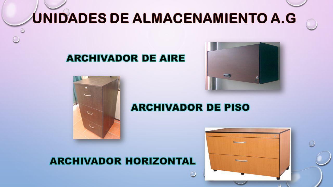 UNIDADES DE ALMACENAMIENTO A.G