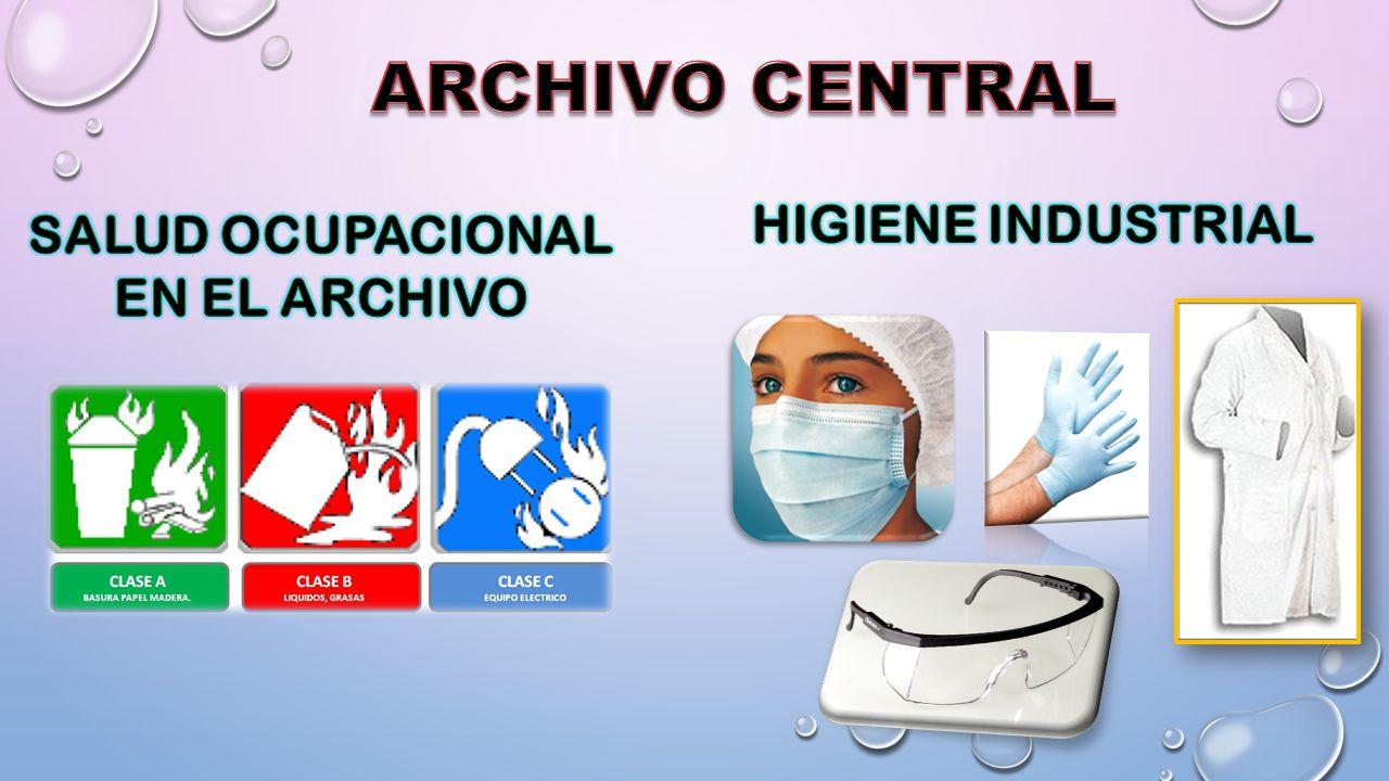 SALUD OCUPACIONAL EN EL ARCHIVO
