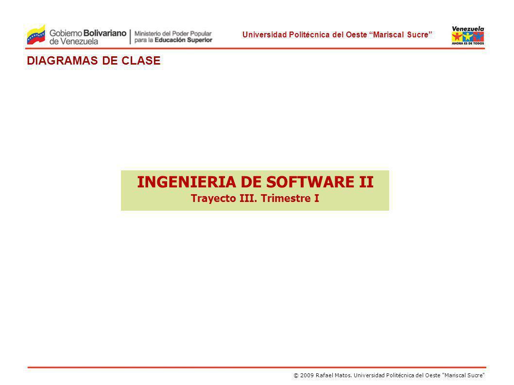 INGENIERIA DE SOFTWARE II Trayecto III. Trimestre I