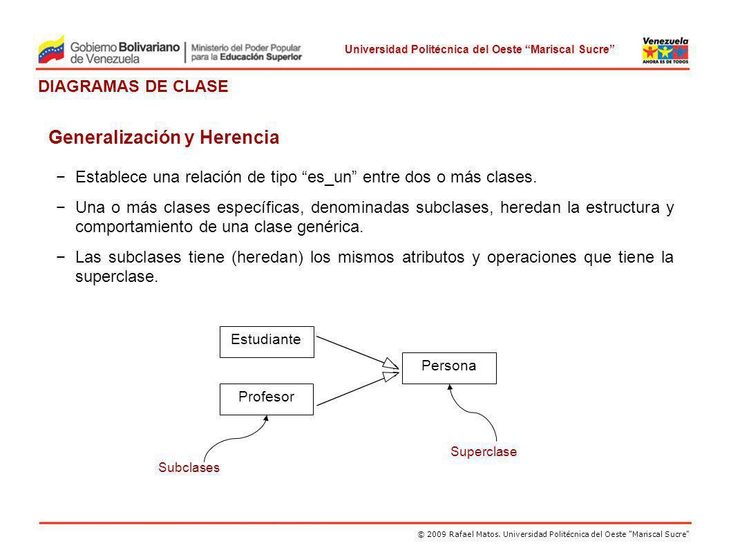 Generalización y Herencia