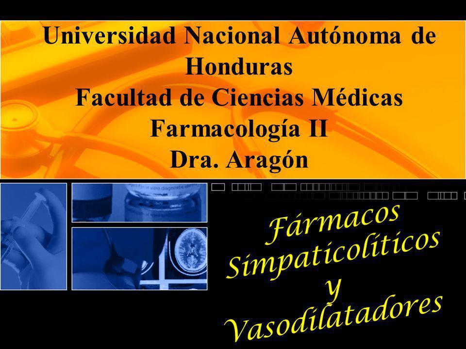 Fármacos Simpaticolíticos y Vasodilatadores