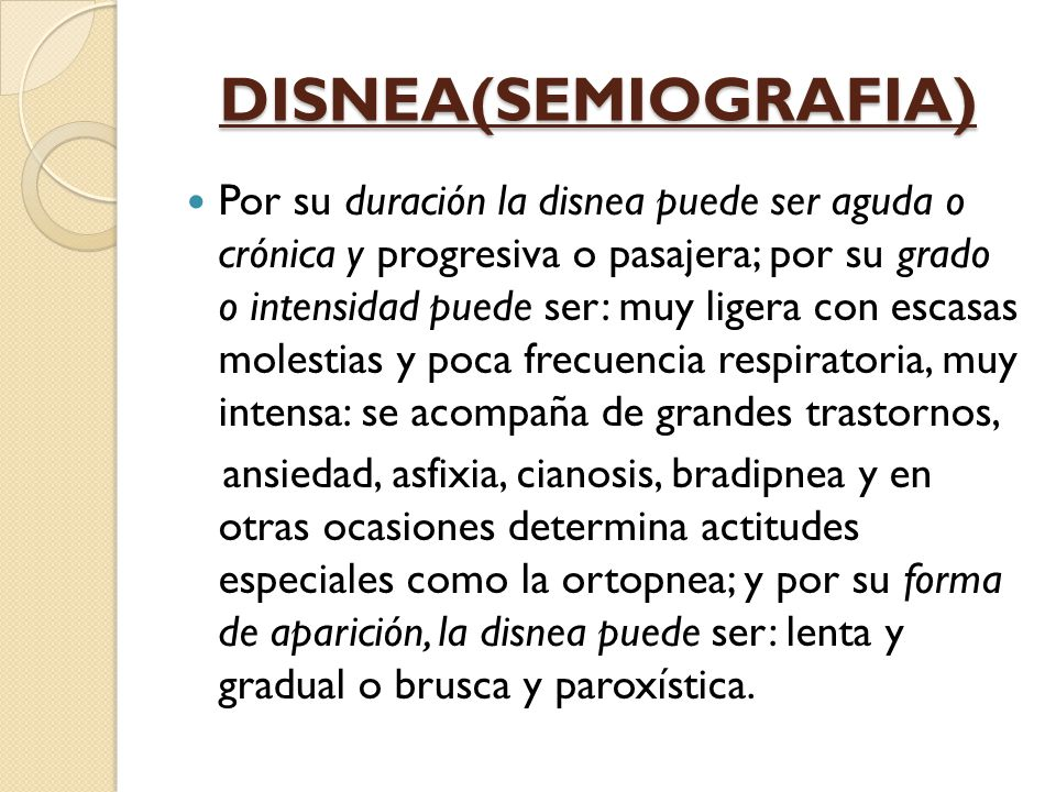 DISNEA(SEMIOGRAFIA)