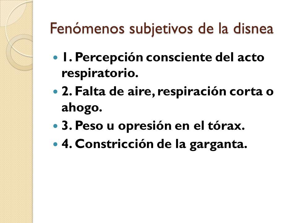 Fenómenos subjetivos de la disnea