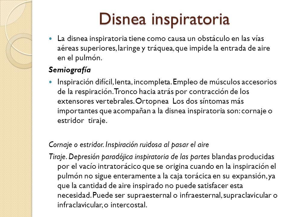 Disnea inspiratoria