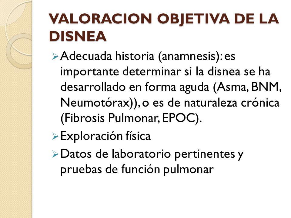 VALORACION OBJETIVA DE LA DISNEA