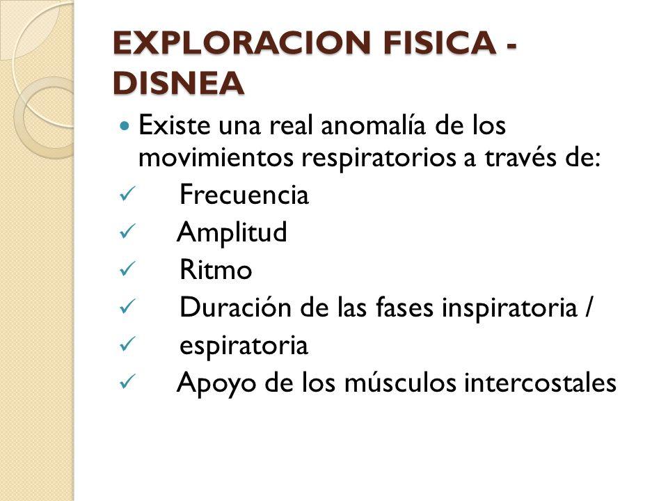 EXPLORACION FISICA - DISNEA