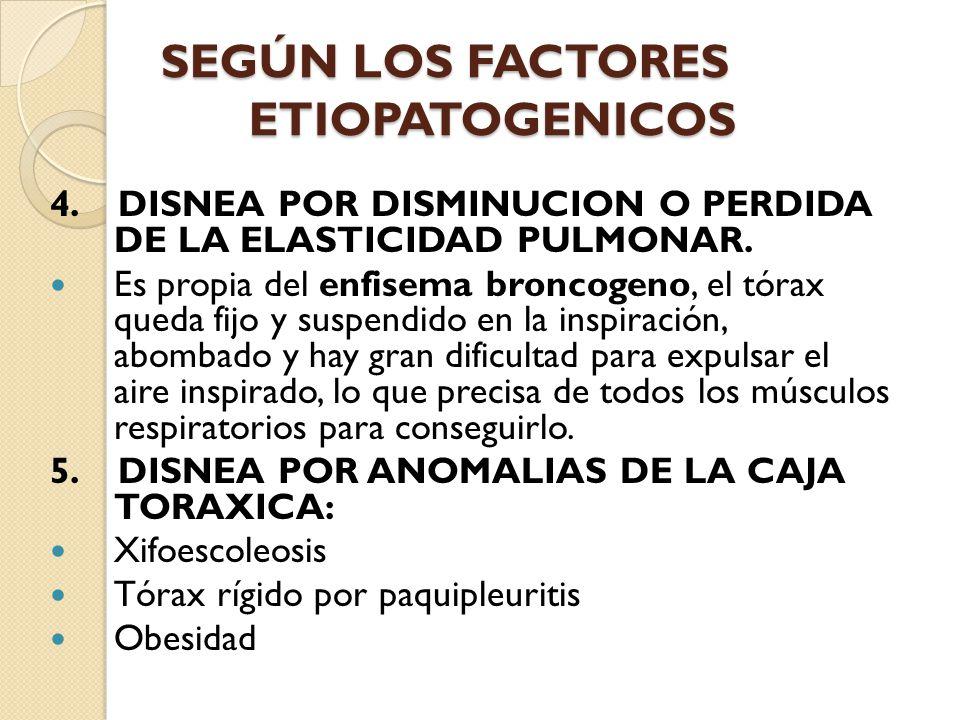 SEGÚN LOS FACTORES ETIOPATOGENICOS
