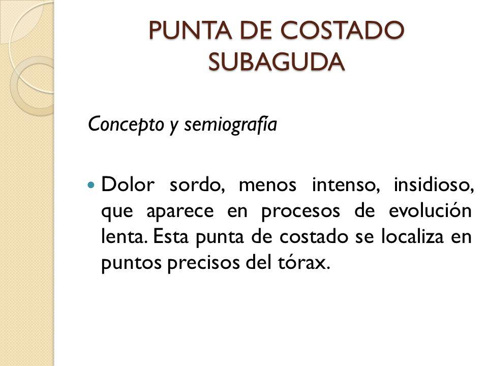 PUNTA DE COSTADO SUBAGUDA