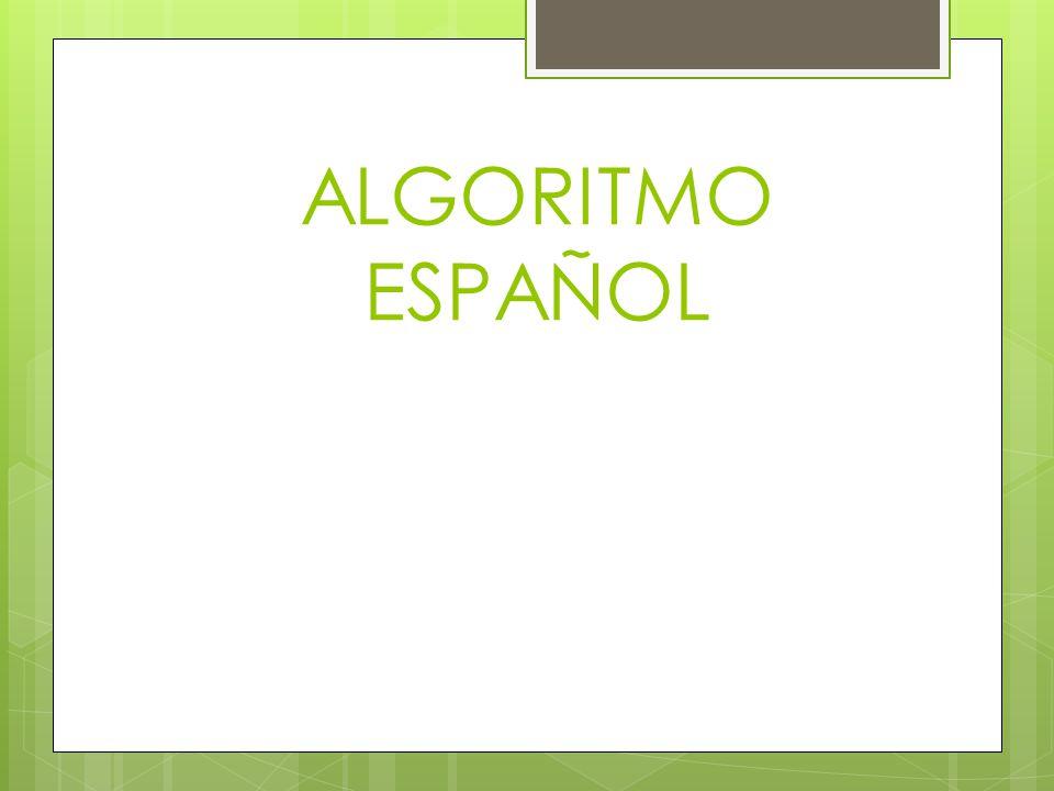 ALGORITMO ESPAÑOL