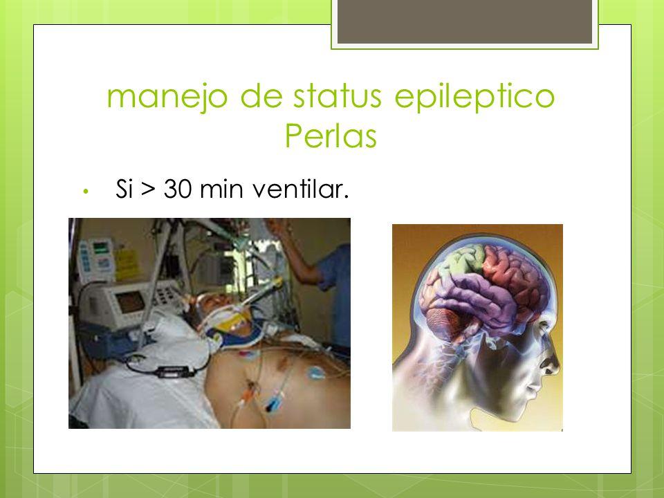 manejo de status epileptico Perlas