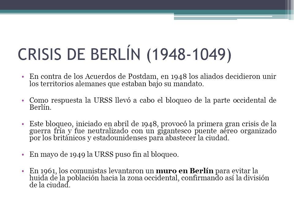 CRISIS DE BERLÍN (1948-1049)