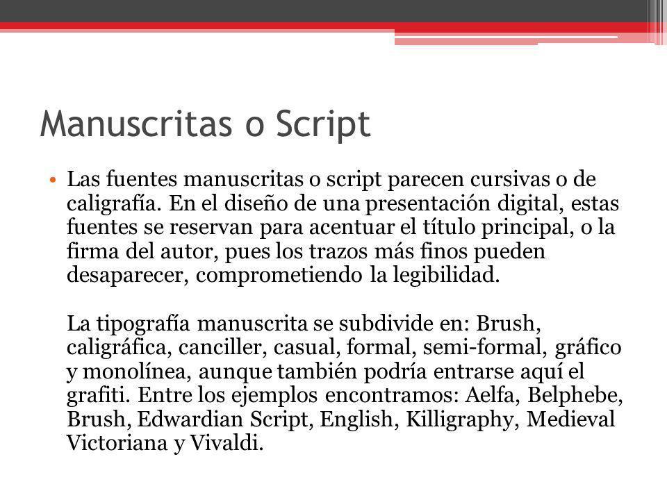 Manuscritas o Script