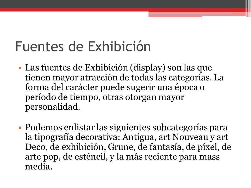 Fuentes de Exhibición
