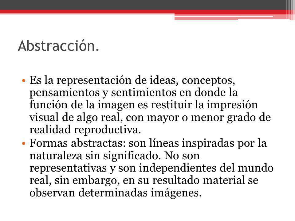 Abstracción.