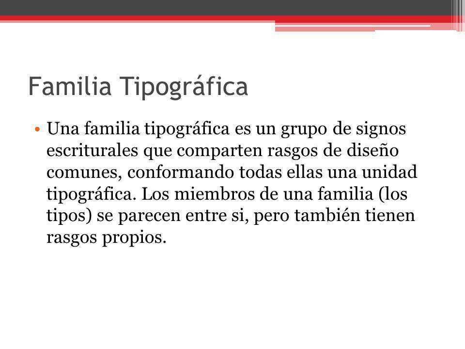 Familia Tipográfica