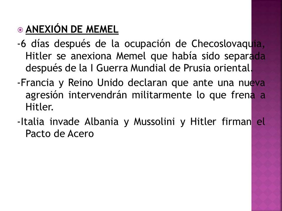 ANEXIÓN DE MEMEL