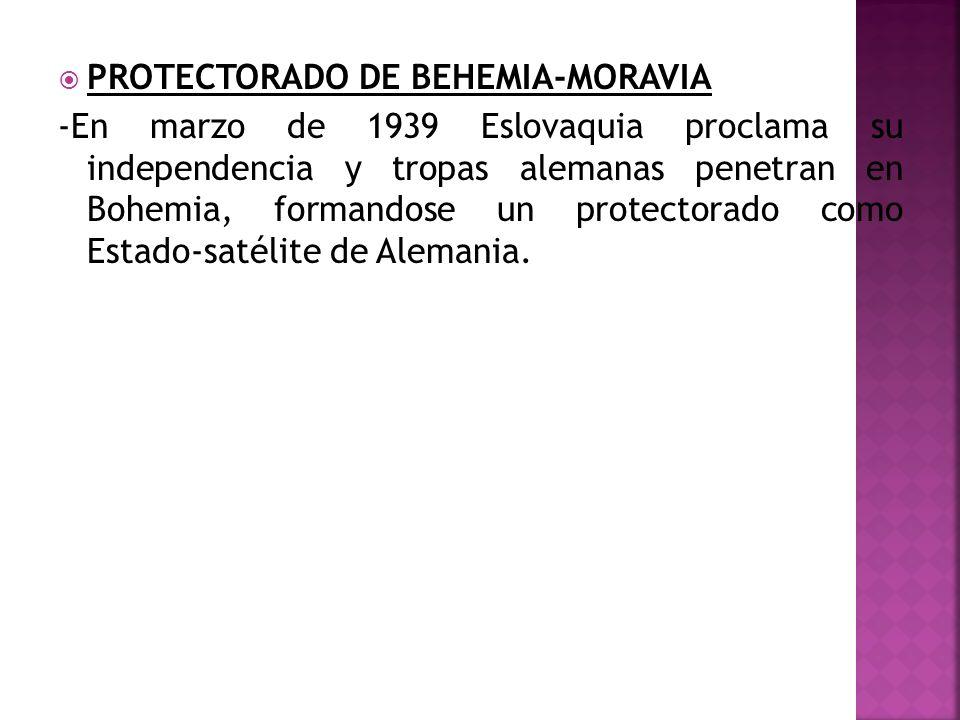 PROTECTORADO DE BEHEMIA-MORAVIA