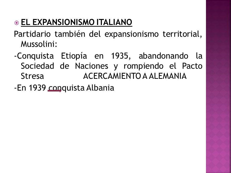 EL EXPANSIONISMO ITALIANO