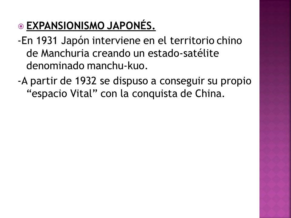 EXPANSIONISMO JAPONÉS.