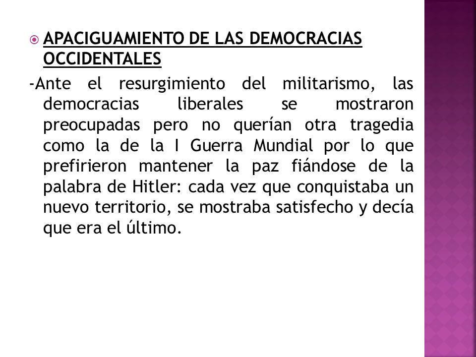 APACIGUAMIENTO DE LAS DEMOCRACIAS OCCIDENTALES