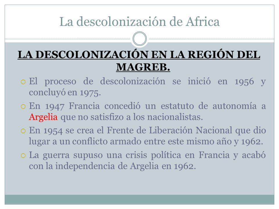 La descolonización de Africa