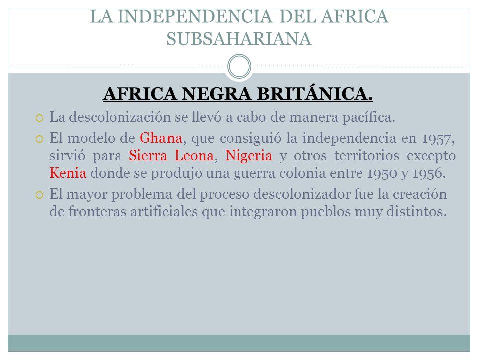 LA INDEPENDENCIA DEL AFRICA SUBSAHARIANA