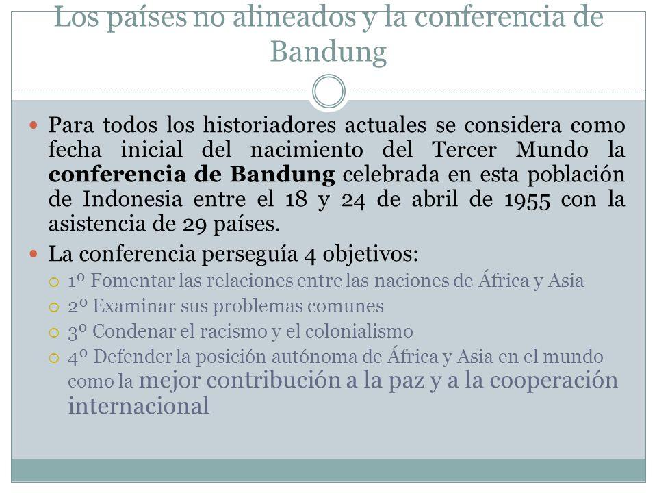 Los países no alineados y la conferencia de Bandung