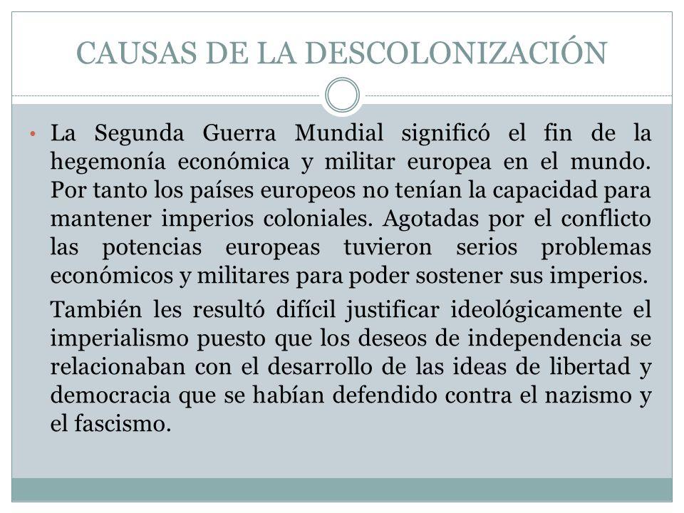CAUSAS DE LA DESCOLONIZACIÓN