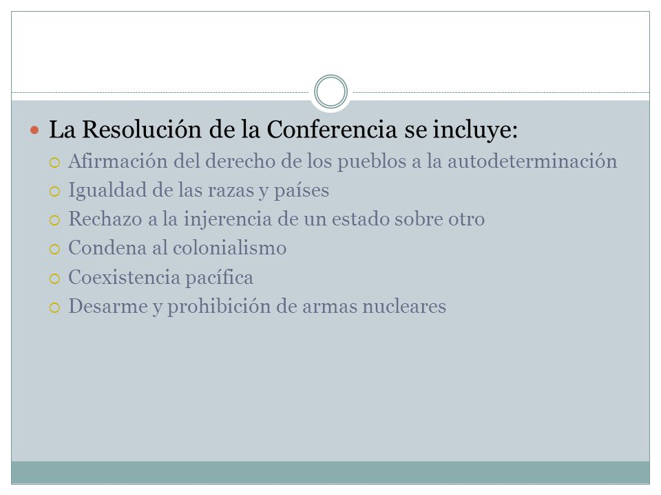 La Resolución de la Conferencia se incluye: