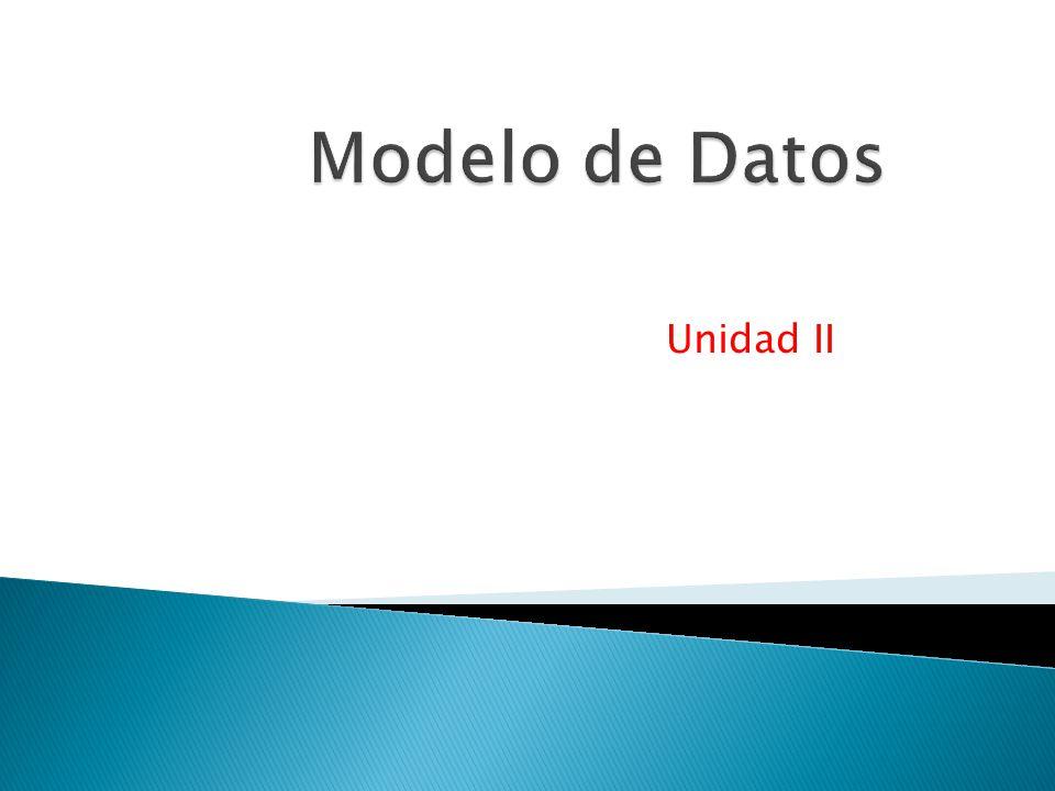 Modelo de Datos Unidad II