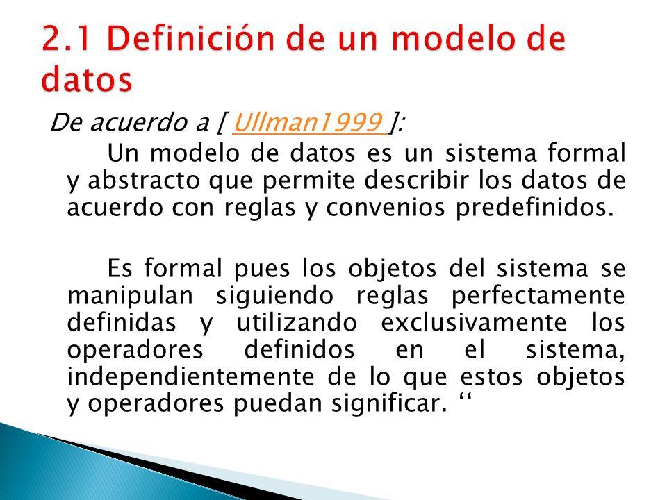 2.1 Definición de un modelo de datos