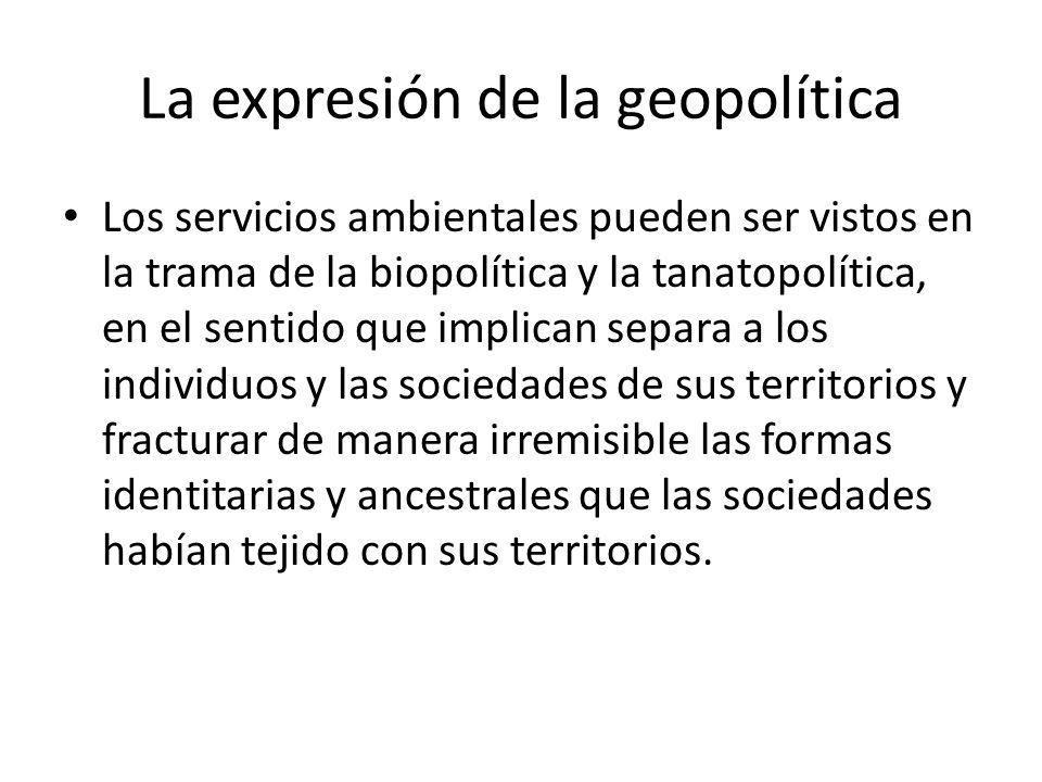La expresión de la geopolítica