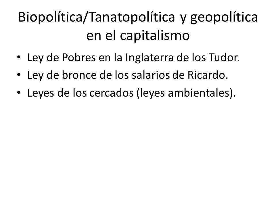 Biopolítica/Tanatopolítica y geopolítica en el capitalismo