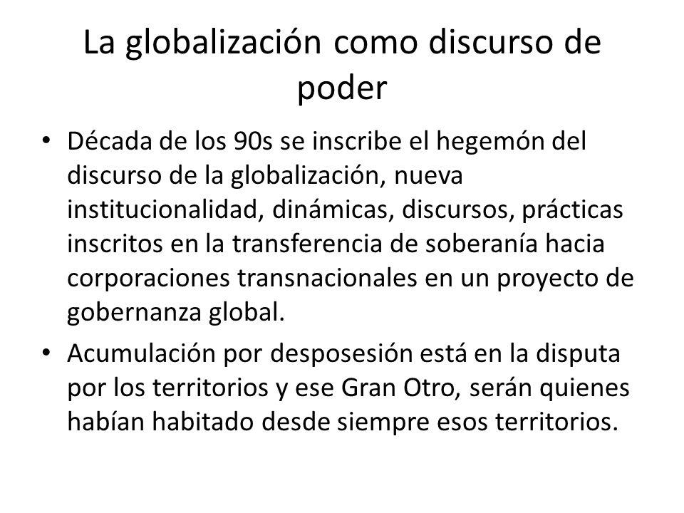 La globalización como discurso de poder