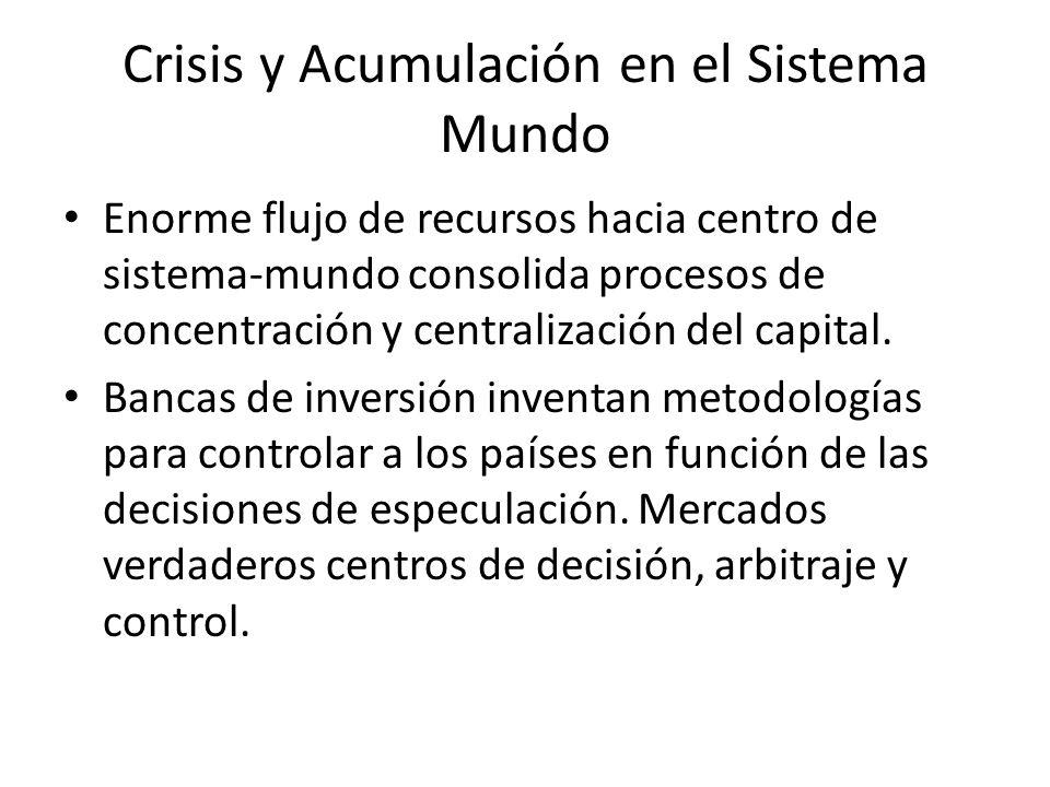 Crisis y Acumulación en el Sistema Mundo