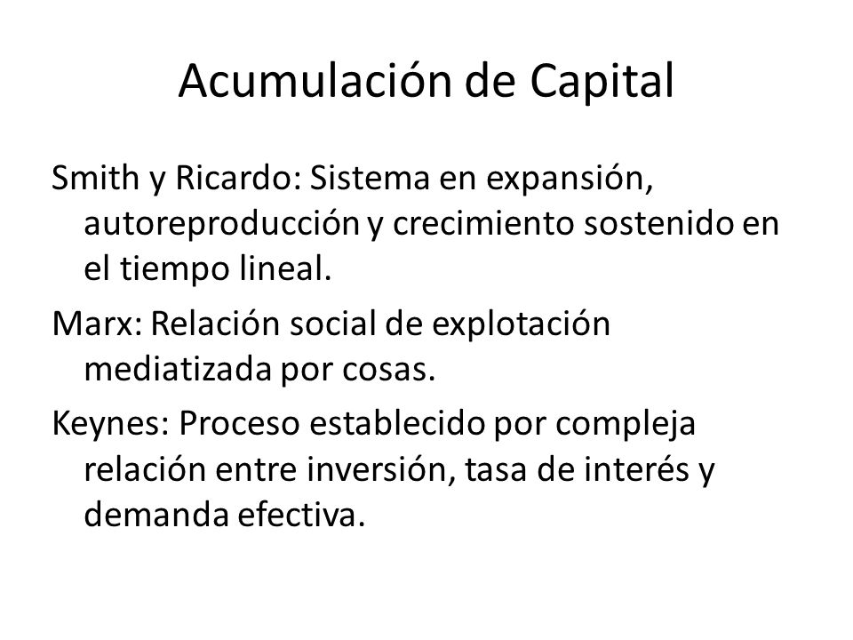 Acumulación de Capital