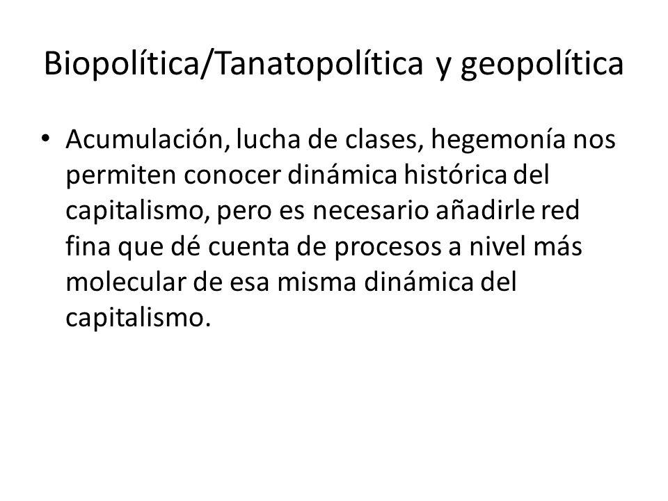 Biopolítica/Tanatopolítica y geopolítica
