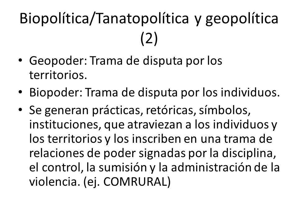Biopolítica/Tanatopolítica y geopolítica (2)