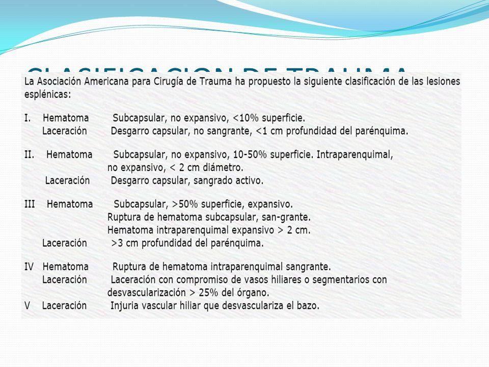 CLASIFICACION DE TRAUMA