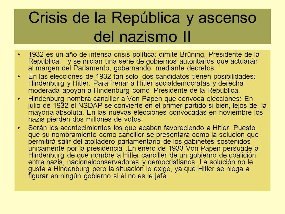 Crisis de la República y ascenso del nazismo II