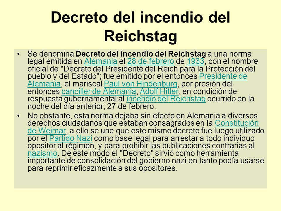 Decreto del incendio del Reichstag