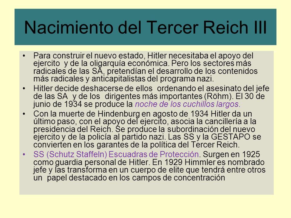 Nacimiento del Tercer Reich III