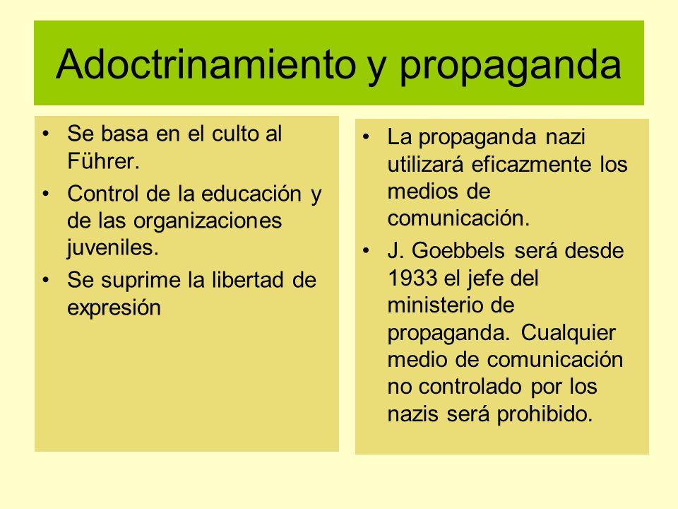 Adoctrinamiento y propaganda