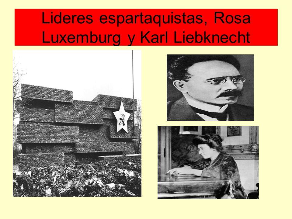 Lideres espartaquistas, Rosa Luxemburg y Karl Liebknecht