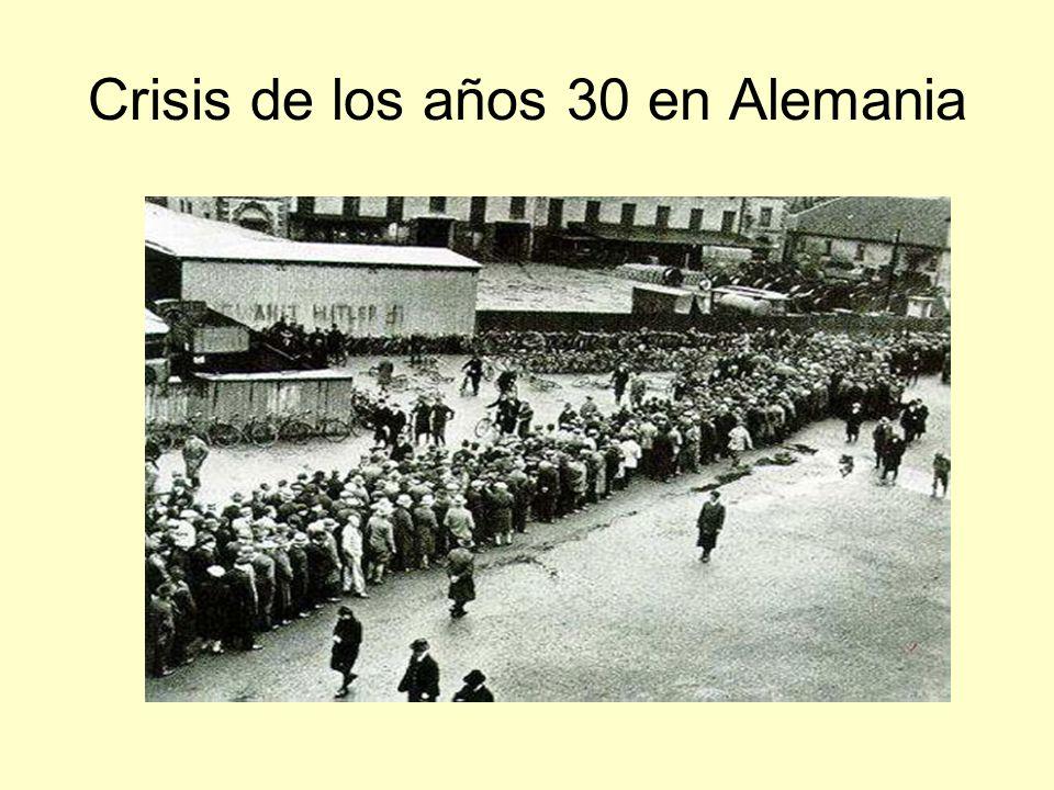 Crisis de los años 30 en Alemania