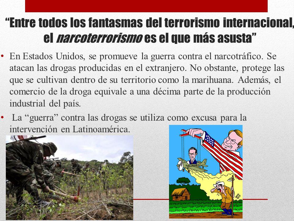 Entre todos los fantasmas del terrorismo internacional, el narcoterrorismo es el que más asusta