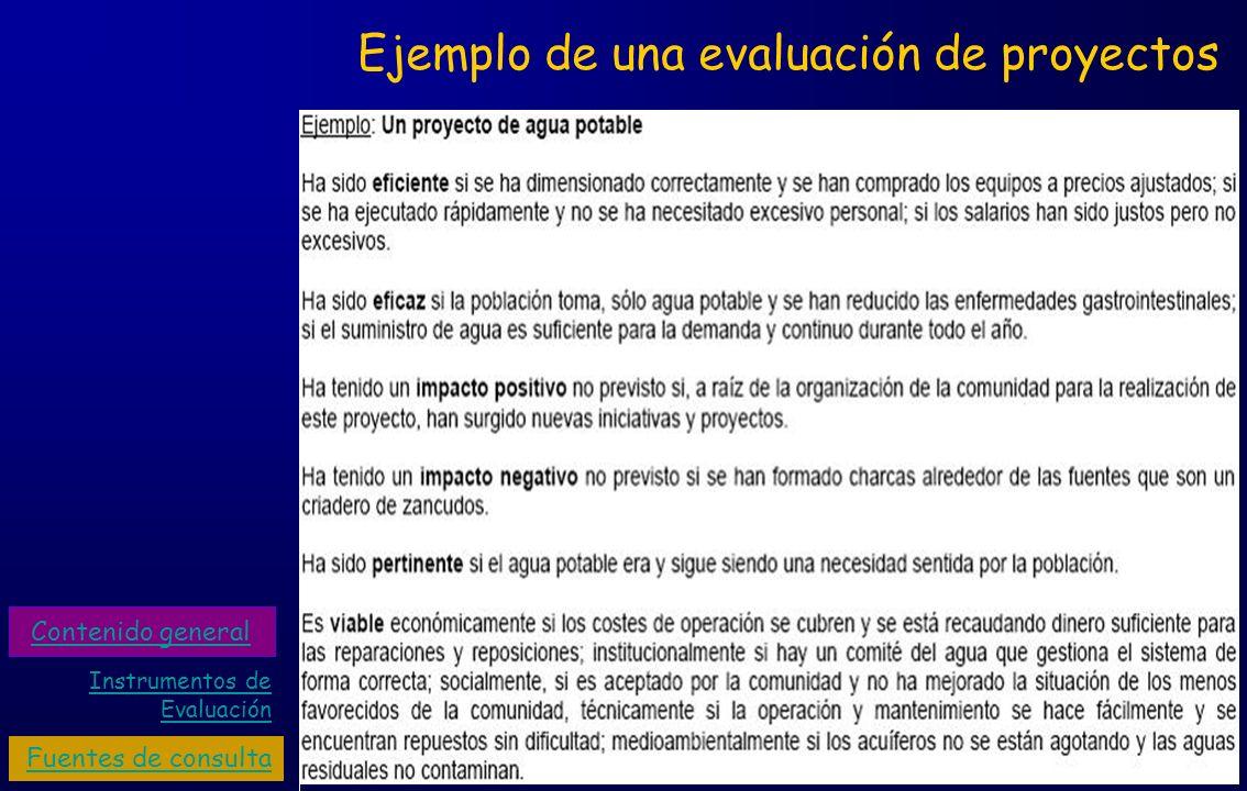 Ejemplo de una evaluación de proyectos