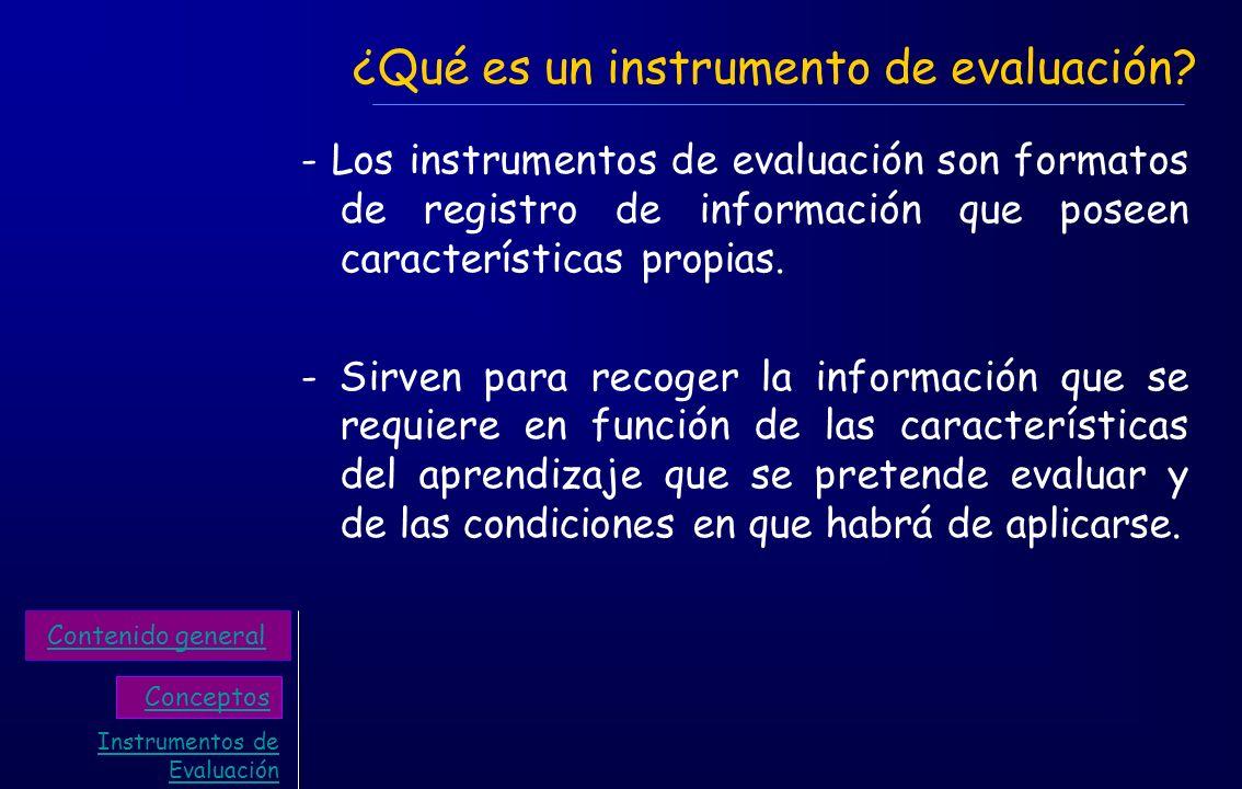 ¿Qué es un instrumento de evaluación